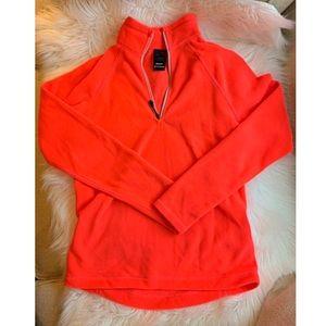 Narragansett Trader neon orange half zip fleece